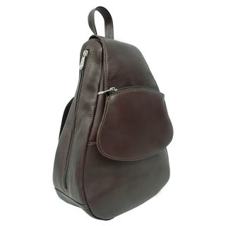 Piel Leather Flap-Over Sling Backpack