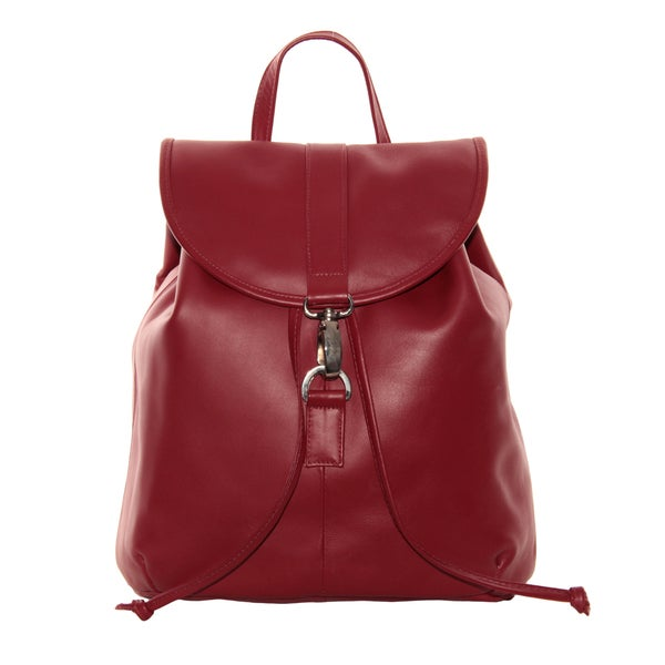 Piel Leather Medium Drawstring Backpack