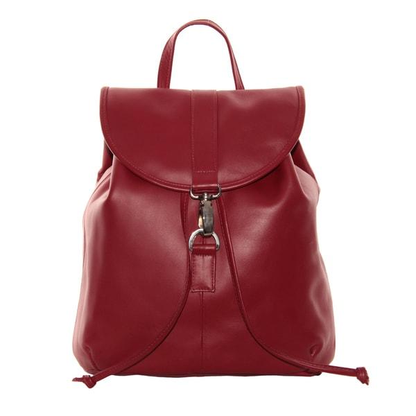 Piel Leather Medium Drawstring Backpack
