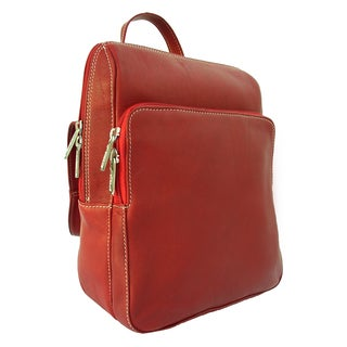 Piel Leather Slim Front Pocket Backpack