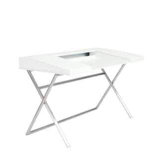 Cruise Desk - White/Brushed Stainless Steel