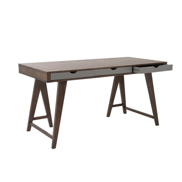 Daniel Desk - Walnut/Gray
