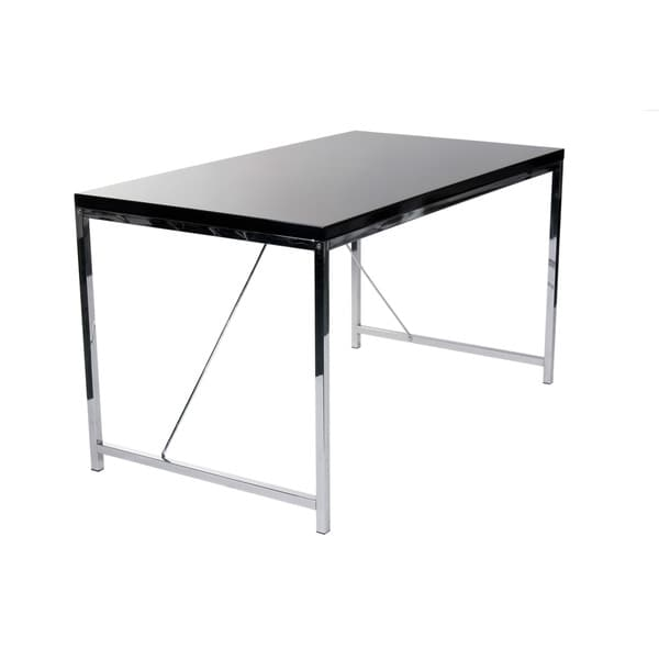 Gilbert Desk - Black Lacquer/Chrome