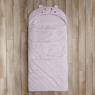 Aurora Home Hippo Plush Faux Fur Sleeping Bag
