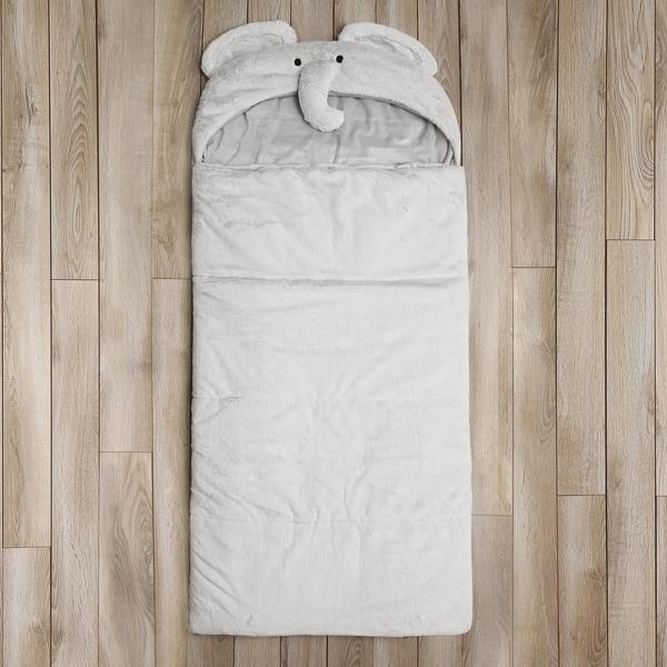 Aurora Home Plush Faux Fur Sleeping Bag - Elephant
