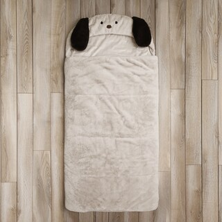 Aurora Home Puppy Plush Faux Fur Sleeping Bag