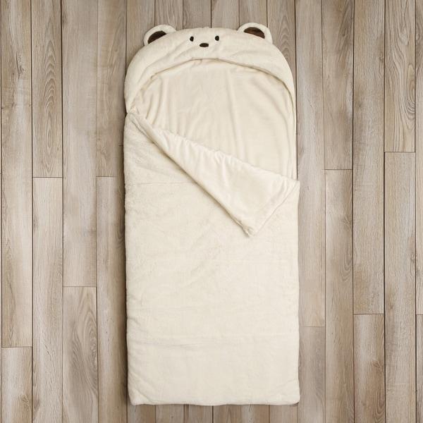 Aurora Home Plush Faux Fur Sleeping Bag - Bear