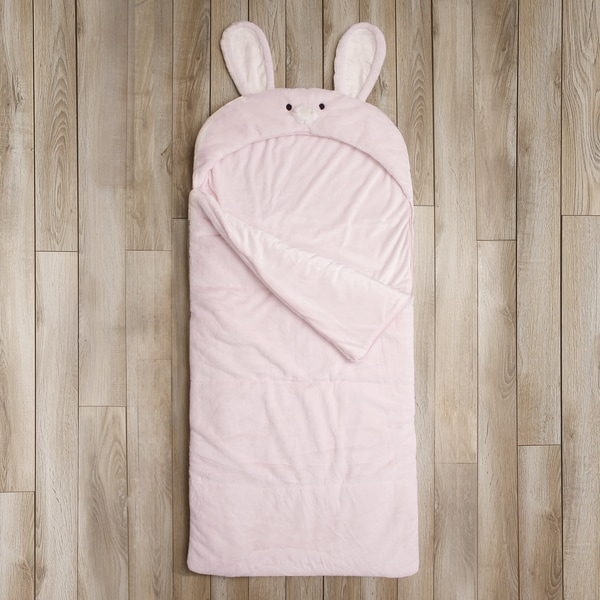 Aurora Home Plush Faux Fur Sleeping Bag - Bunny Rabbit