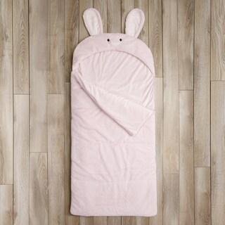 Aurora Home Bunny Rabbit Plush Faux Fur Sleeping Bag