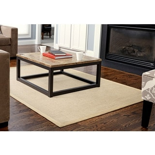 Jani Tweedy Natural Jute Border Rug (5' x 7')