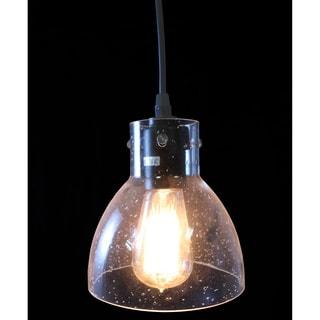 Glenda 1-light Adjustable Cord Glass Edison Pendant Light with Bulb