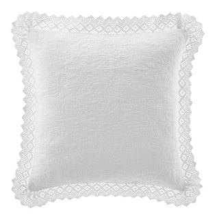 Laura Ashley Crochet White Décorative Pillow