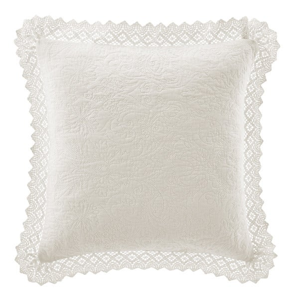 Laura Ashley Crochet Ivory Dcorative Pillow