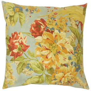 Laqueta Floral 18-inch Down and Feather Filled Throw Pillow