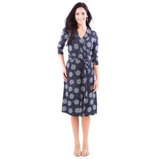 DownEast Basics Women's Ornament Wrap Dress
