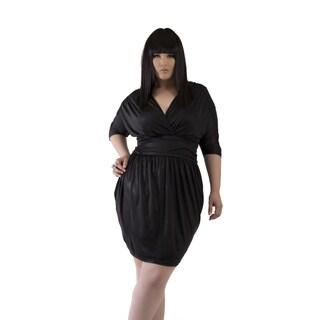 Full Figured Fashionista Women's Holiday Plus Size Dress