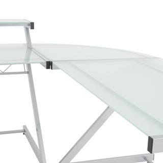 Z Deluxe Aluminum/ Frosted Glass Corner Piece