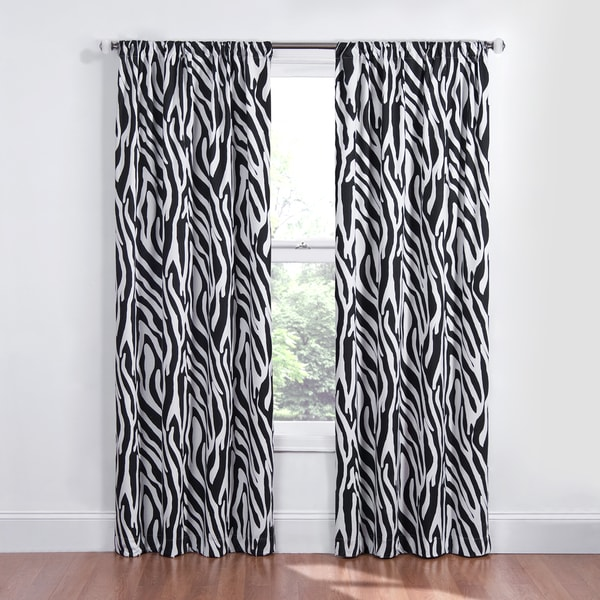 Kids Zebra Blackout Window Curtain Panel