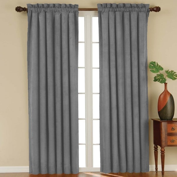 Suede Blackout Window Curtain Panel