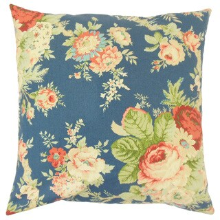 Ilithya Flora Down and Feather Filled 18-inch Throw Pillow