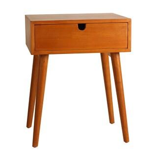 Porthos Home Holland Mid-Century 1-Drawer Walnut Side Table