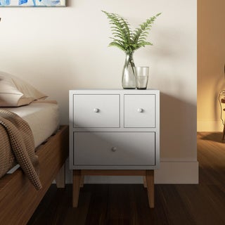 Zooey Modern 3-Drawer Side Table