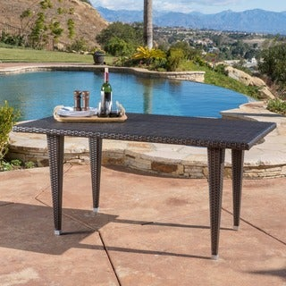 Christopher Knight Home Dominica Outdoor Rectangle Wicker Dining Table (ONLY)
