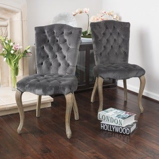 Christopher Knight Home Moira Velvet Dining Chair (Set of 2)