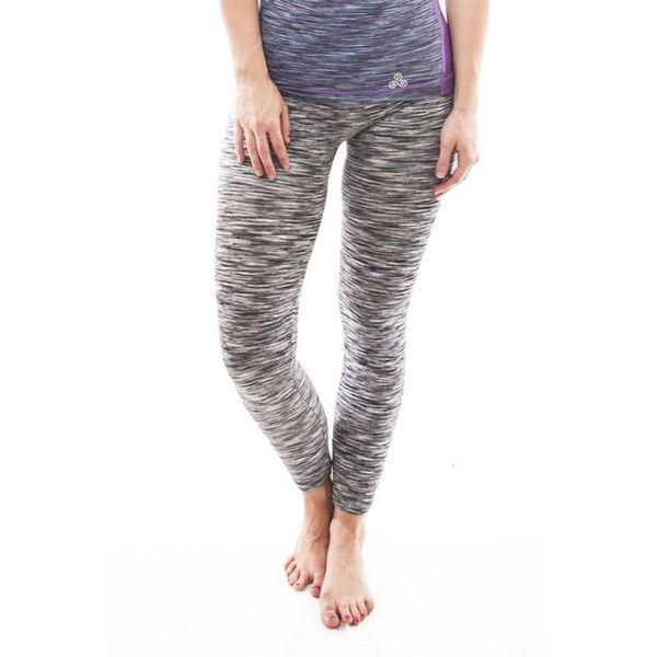Soho Black Coral Black Grey Space Dye Sports Leggings