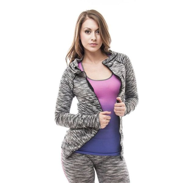 Soho Women Black Grey Space Dye Sports Hoodie 16981001