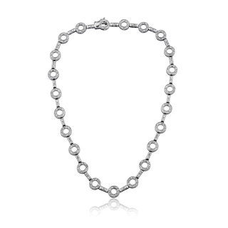 Collette Z Sterling Silver Looped Chain Classic Necklace