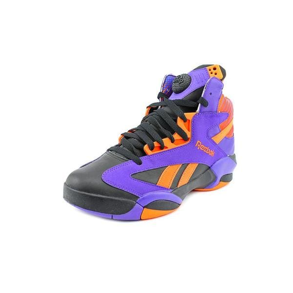 Reebok Men's 'Shaq Attaq' Leather Athletic Size 11.5 in Purple (As Is Item)