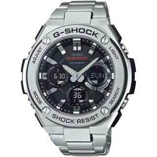 Casio G-Shock Men's GSTS110D-1A Analog-Digital Dial Stainless Steel Bracelet Watch