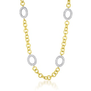 Collette Z Sterling Silver Mini Clear Cubic Zirconia Necklace