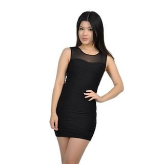 Soho Junior Horizontally Textured Wave Lines Dress