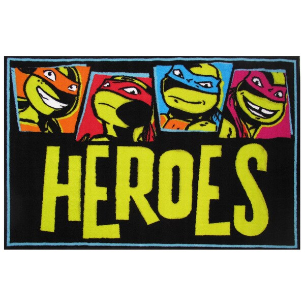 "Teenage Mutant Ninja Turtles 'Heroes' Accent Rug 19"" x 29"" 16981413"
