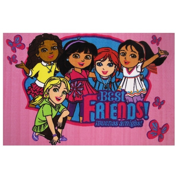 "Dora the Explorer 'Best Friends' Accent Rug 19"" x 29"""