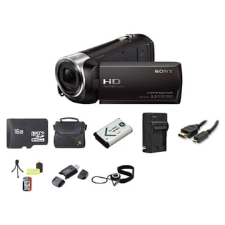 Sony HDR-CX240 Camcorder Black 16GB Bundle