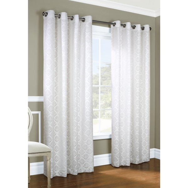 Anna Jacquard Lace Curtain Panel Pair