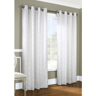 Anna Jacquard Lace Curtain Panel Pair