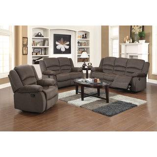 Dallas 3-piece Fabric Reclining Sofa Set
