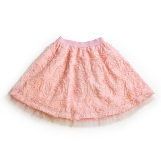 Girls' Soft Pink Rosette Tulle Skirt