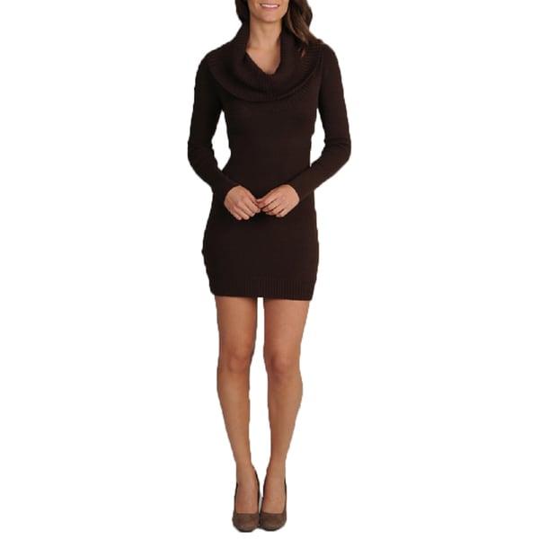 BCBGMaxazaria Women's Cowl Neck Java Knit Sweater Dress Small Size (As Is Item)