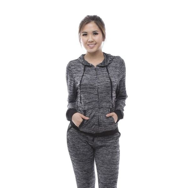 Soho Dark Heather Grey Hoodie Jogger Sportswear Jogging Set