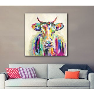 Melissa Lyons's Artsy Cow, Gallery Wrapped Canvas