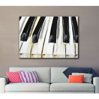 Melissa Lyons's Piano, Gallery Wrapped Canvas