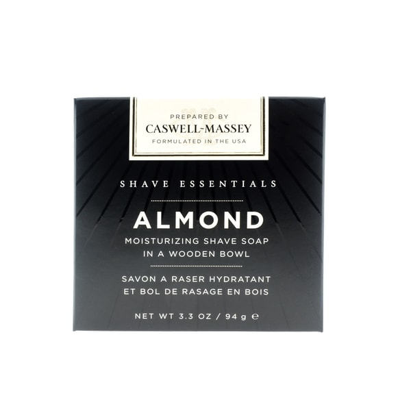 Caswell-Massey Almond Moisturizing 3.3-ounce Shave Soap in a Wooden Bowl 16988091