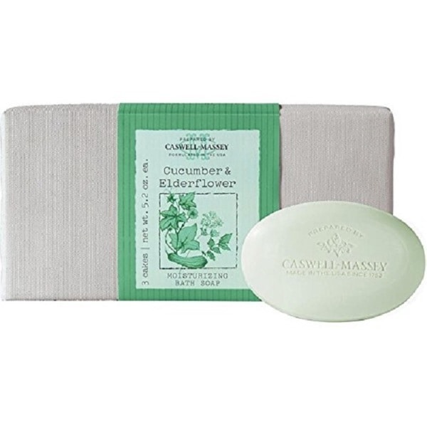 Caswell Massey Cucumber & Elderflower 3-piece Soap Set