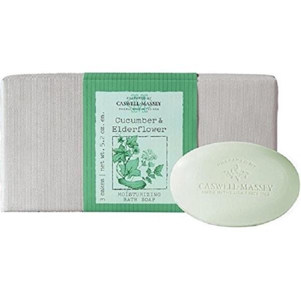 Caswell Massey Cucumber & Elderflower 3-piece Soap Set