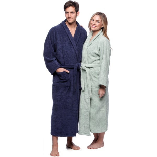 Superior Collection Luxurious Egyptian Cotton Unisex Terry Bath Robe X-Large in Ivory (As Is Item)